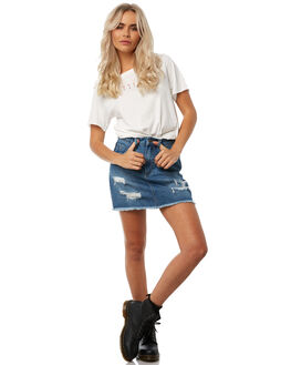 DIRTY WHITE WOMENS CLOTHING THRILLS TEES - WTH8-122AWHT