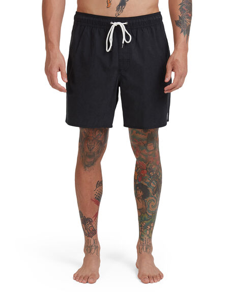 BLACK MENS CLOTHING RVCA BOARDSHORTS - RV-R307401-BLK