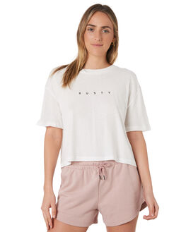 BRIGHT WHITE WOMENS CLOTHING RUSTY TEES - TTL1038BTW