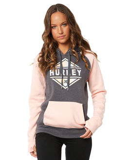 STORM PINK WOMENS CLOTHING HURLEY JUMPERS - AGFLFLRL60Y
