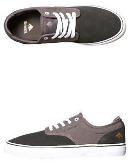 DARK GREY MENS FOOTWEAR EMERICA SKATE SHOES - 6101000104-063