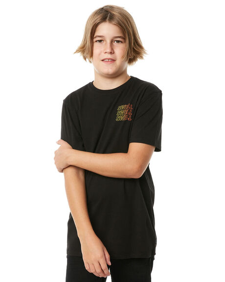 BLACK KIDS BOYS SWELL TEES - S3184001BLACK