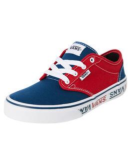 BLUE RED KIDS BOYS VANS SNEAKERS - VNA45JSVEH