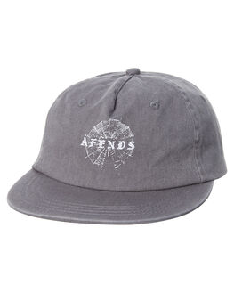 WASHED GREY MENS ACCESSORIES AFENDS HEADWEAR - A182606WGRY