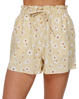 YELLOW FADE WOMENS CLOTHING BILLABONG SHORTS - BB-6591281-YLF