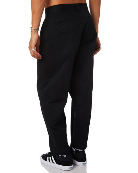 BLACK MENS CLOTHING OBEY PANTS - 142020106BLK
