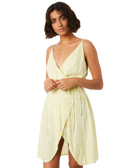FADED YELLOW WOMENS CLOTHING VOLCOM DRESSES - B1341818FDY