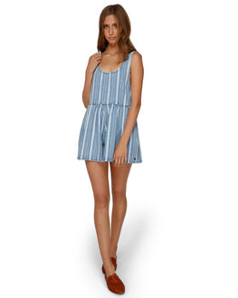 BLUE WOMENS CLOTHING BILLABONG PLAYSUITS + OVERALLS - BB-6591506-BLU