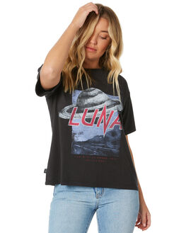 WASHED BLACK WOMENS CLOTHING ALL ABOUT EVE TEES - 6454028WBLK