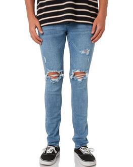 RIFF BLUE MENS CLOTHING WRANGLER JEANS - W-901481-KR7RIFBL