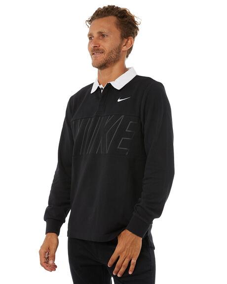 BLACK MENS CLOTHING NIKE SHIRTS - 885847010