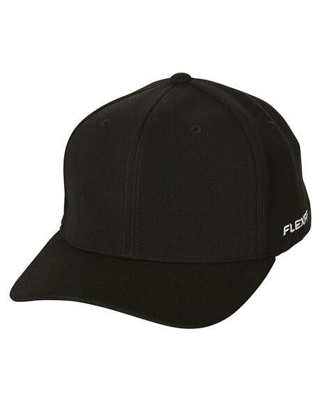 BLACK MENS ACCESSORIES FLEX FIT HEADWEAR - 1616213BLK