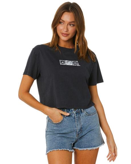 BLACK WOMENS CLOTHING RUSTY TEES - TTL1139-BLK