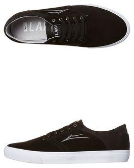 BLACK MENS FOOTWEAR LAKAI SKATE SHOES - MS1170247ABLK