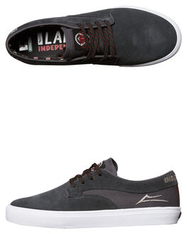 CHARCOAL MENS FOOTWEAR LAKAI SKATE SHOES - MS417-0090-A00CHAR