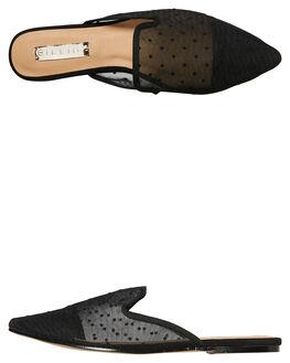 BLACK POLKA DOT WOMENS FOOTWEAR BILLINI FLATS - F422BLK