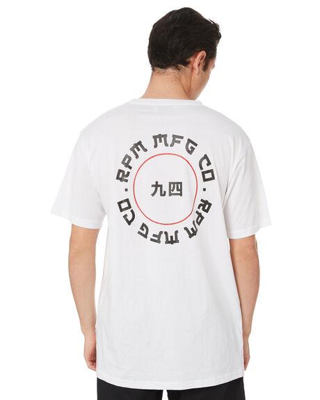 WHITE MENS CLOTHING RPM TEES - 20PM04BWHT