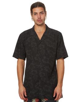 BLACK FLORAL MENS CLOTHING ZANEROBE SHIRTS - 316-TDKBLKF