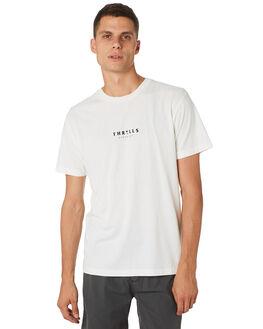 WHITE MENS CLOTHING THRILLS TEES - TH9-106AWHT