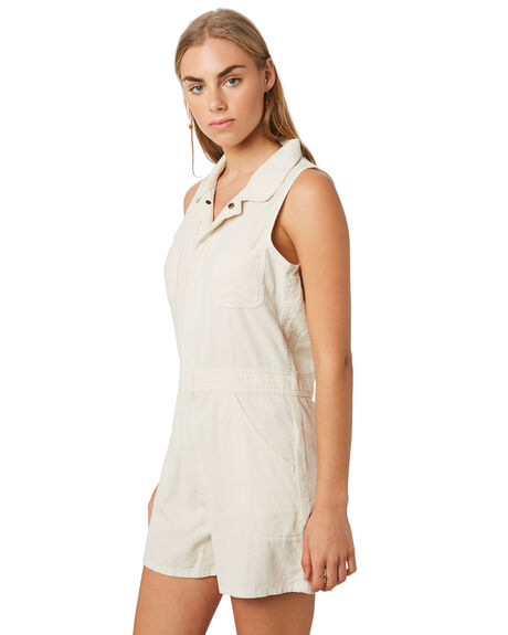 DIRTY WHITE WOMENS CLOTHING THRILLS PLAYSUITS + OVERALLS - WTR9-951ADWHT
