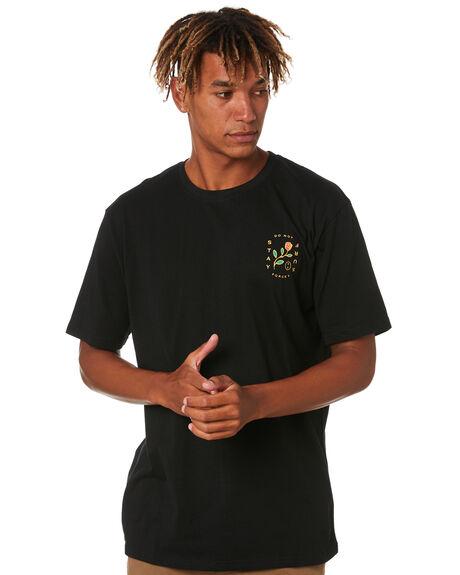 BLACK MENS CLOTHING STAY TEES - STE-20105BLK