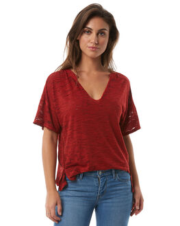 RED WOMENS CLOTHING FREE PEOPLE TEES - OB7747026600