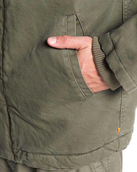 DUSTY OLIVE MENS CLOTHING QUIKSILVER JACKETS - EQMJK03031-GPB0