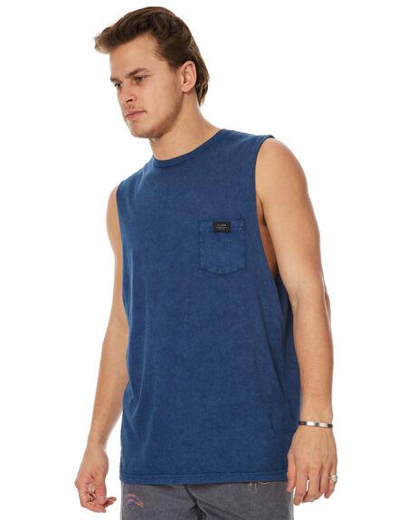 BRUISE BLUE MENS CLOTHING GLOBE SINGLETS - GB01712002BRBLU