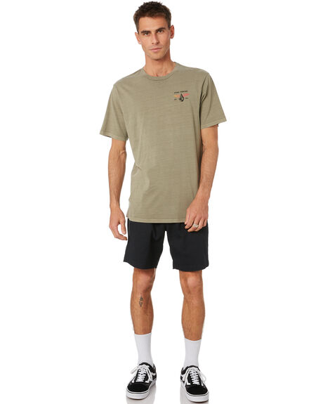 ARMY GREEN COMBO MENS CLOTHING VOLCOM TEES - A4332070ARC