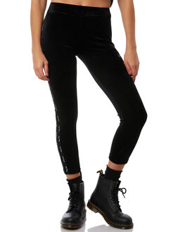 BLACK WOMENS CLOTHING STUSSY PANTS - ST181621BLK