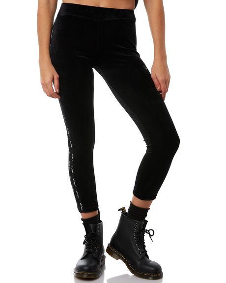BLACK WOMENS CLOTHING STUSSY PANTS - ST181621BLK