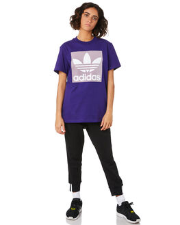COLLEGIATE PURPLE WOMENS CLOTHING ADIDAS TEES - ED7469PUR