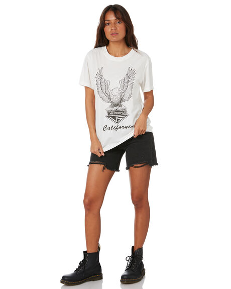 WHITE WOMENS CLOTHING THE PEOPLE VS TEES - W20W101WHT