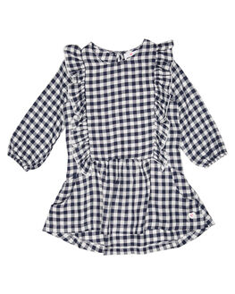 NAVY WHITE CHECK KIDS TODDLER GIRLS EVES SISTER DRESSES + PLAYSUITS - 8010097CHK