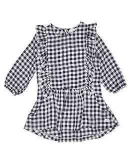 NAVY WHITE CHECK KIDS TODDLER GIRLS EVES SISTER DRESSES - 8010097CHK