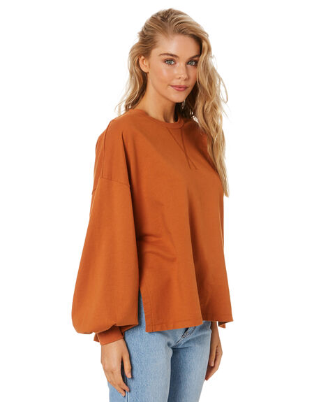 MOCHA WOMENS CLOTHING CHARLIE HOLIDAY JUMPERS - TUW9000MOCHA