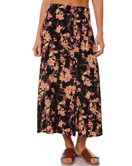 BLACK COMBO WOMENS CLOTHING FREE PEOPLE SKIRTS - OB950838-0098