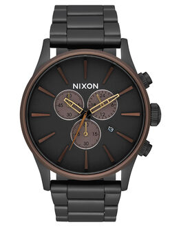 BLACK BROWN BRASS MENS ACCESSORIES NIXON WATCHES - A3862786