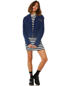TWILIGHT BLUE WOMENS CLOTHING AFENDS JACKETS - W191582TWI