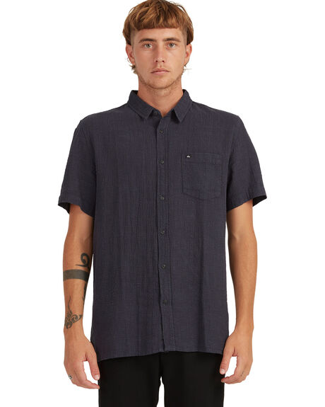 BLACK MENS CLOTHING QUIKSILVER SHIRTS - UQYWT03050-KVJ0