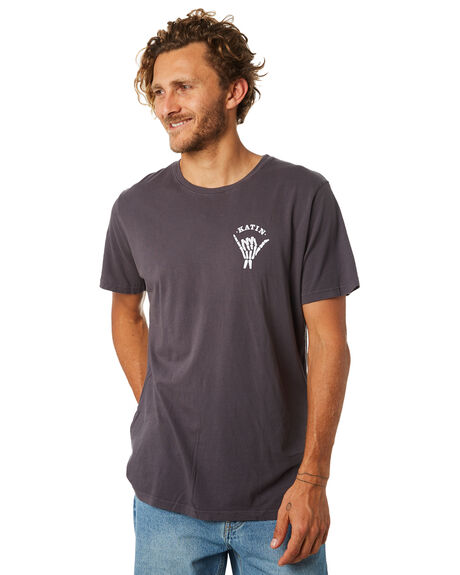 BLACK WASH MENS CLOTHING KATIN TEES - TSEAS01BWSH