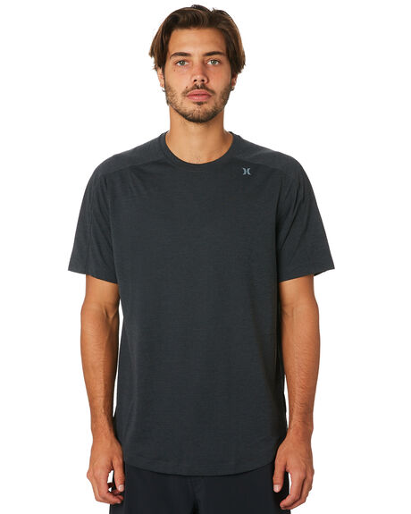 1684dde389742 Hurley Qd Dri Fit Heavy Ss Surf Shirt - Black Heather