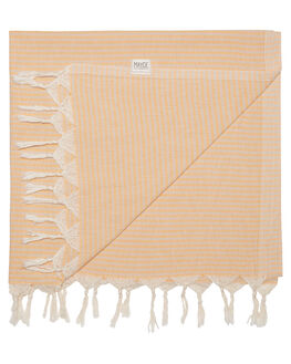 PEACH  BEIGE WOMENS ACCESSORIES MAYDE TOWELS - 19NOOSAPBPB