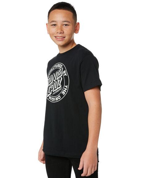 BLACK KIDS BOYS SANTA CRUZ TOPS - SC-YTA0469BLK