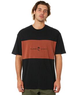 BLACK MENS CLOTHING GLOBE TEES - GB02030012BLK