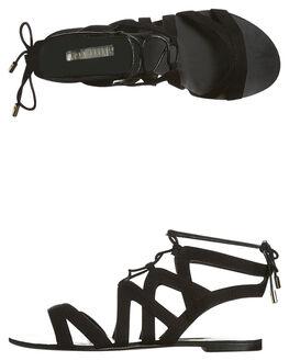 BLACK SUEDE WOMENS FOOTWEAR BILLINI FASHION SANDALS - S413BLK
