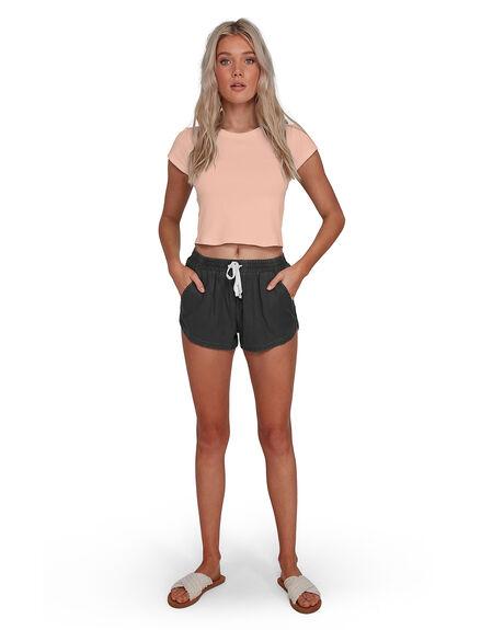 OFF BLACK WOMENS CLOTHING BILLABONG SHORTS - BB-6503350-OFB