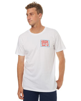 WHITE MENS CLOTHING THE LOBSTER SHANTY TEES - CLSCLOGOWHT