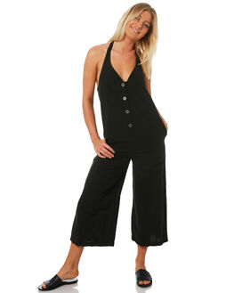 WASHED BLACK WOMENS CLOTHING RVCA PLAYSUITS + OVERALLS - R282756WBLK