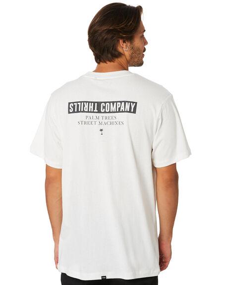 DIRTY WHITE MENS CLOTHING THRILLS TEES - TS8-108ADWHI